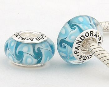 Capri Jewelers Arizona  ~  www.caprijewelersaz.com Blue waves glass pandora...pandora jewelry is so nice