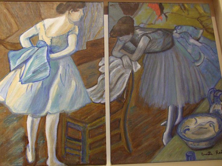 'The Ballet Dancers' Artist Annette Reddan, Ireland. Price 250.00 euro