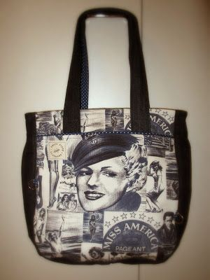 My own Noodlehead Super Tote, love it! Gusset and  handles are made out of old jeans.