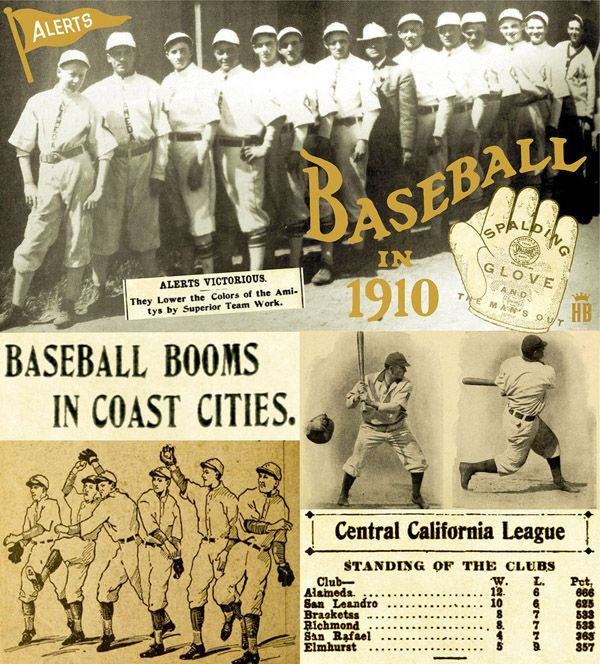Alameda Alerts Baseball 1910 League Champs Alameda Baseball