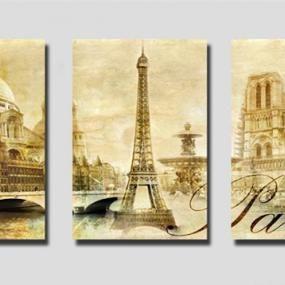 Quadri artistici Flowers Parigi 40x60 per 3 pannelli