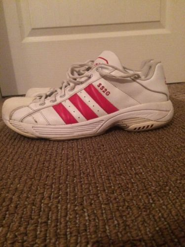 Adidas SS2g Mens US size 13 White/red Stripes-(used)