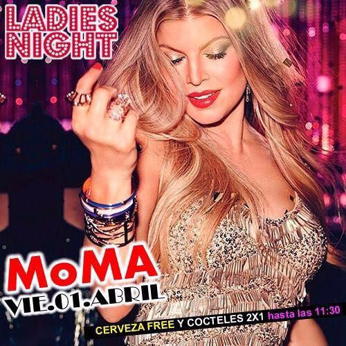 Bueno chicas...empezemos el mes como se debe...LADIES NIGHT en MoMA Bar esta noche...CERVEZA FREE...y Cócteles 2x1...Reserva tu mesa sin costo.