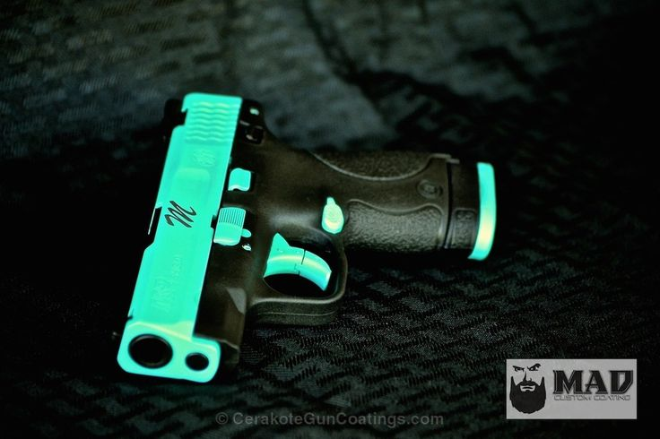 Custom Mix of H-168 Zombie Green with H-169 Sky Blue and H-140 Bright White @CerakoteFinish #Cerakote