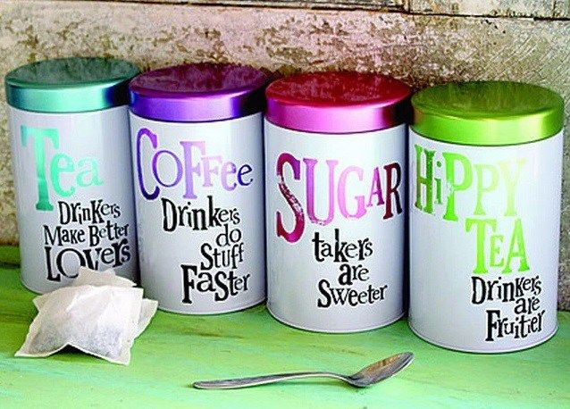 Brightly Coloured Coffee Tea Sugar Canisters Tea And Coffee Canisters Tea Coffee Sugar Jars Coffee Canister