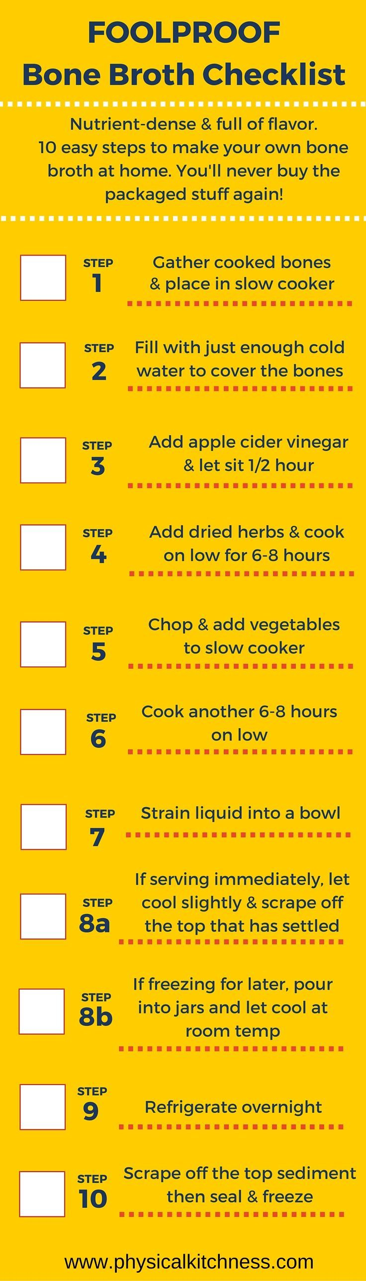 Foolproof, Failure-proof guide to make your own slow cooker bone broth at home. Delicious, easy, and packed full of nutrients