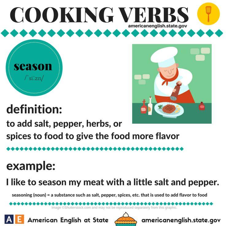 Cooking Verbs: season