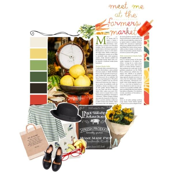 Meet me at the farmers market by beachan on Polyvore featuring MHL by Margaret Howell, Boden, Minimarket, APOLIS, Corinne McCormack and H&M