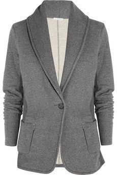 Love this grey knit blazer on Spencer!