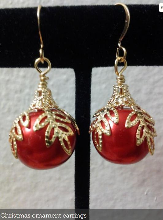 Christmas Ornament Earrings @craftsy                              …