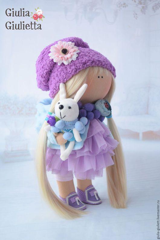 Коллекционные куклы ручной работы. Ярмарка Мастеров - ручная работа. Купить Интерьерная кукла. Handmade. Сиреневый, фатин
