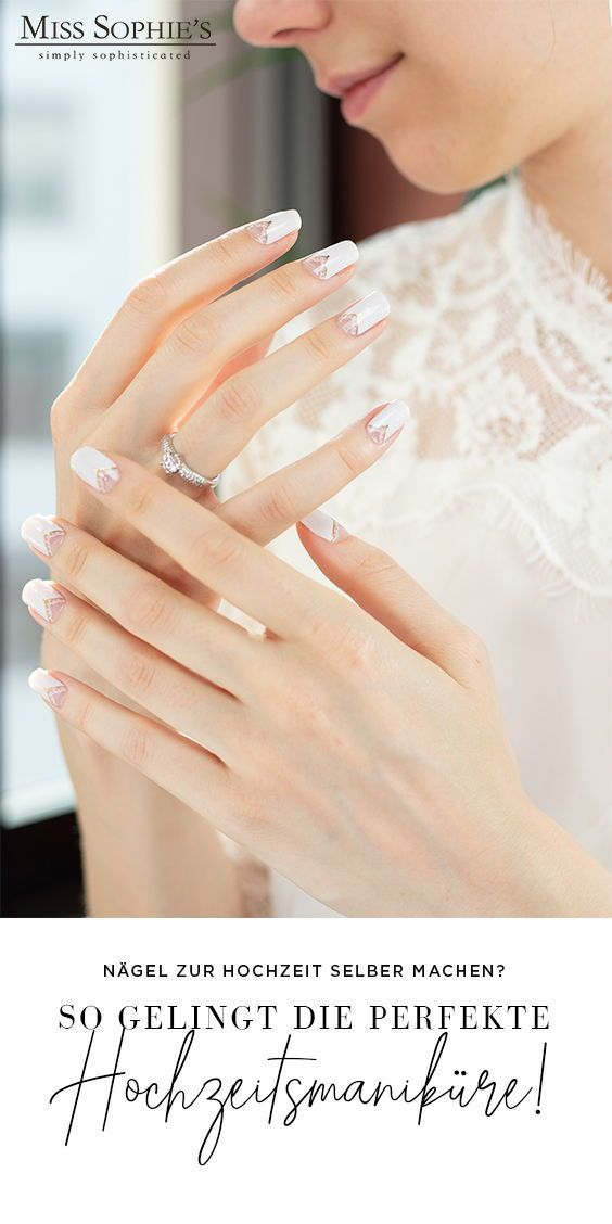 So schnell und einfach kannst du deine Hochzeits-Maniküre selber machen. Wir ze…