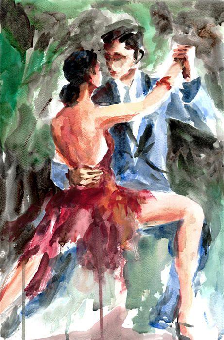 Tango In The Night Print by Faruk Koksal