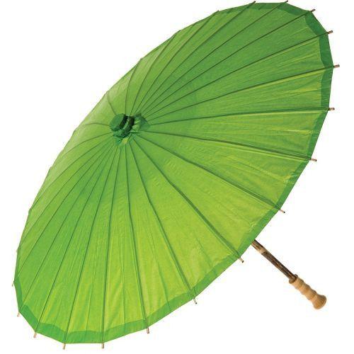 32 Inch Premium Paper Parasol - Greens