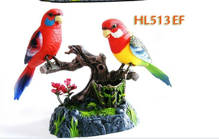 beautiful loves birds Electric Toy Voice control Couples birds Toy 15x13x13cm toy  birthday gift w6979