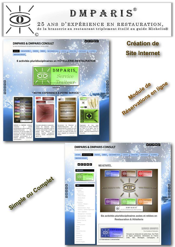 Création de site Web avec module de réservations en ligne et en temps réel
