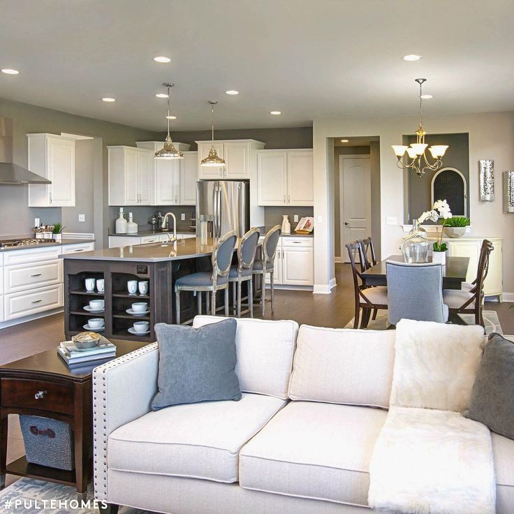 Wauwatosa Open Concept Family Room: Open Concept Living Room, Kitchen, And Dining Room