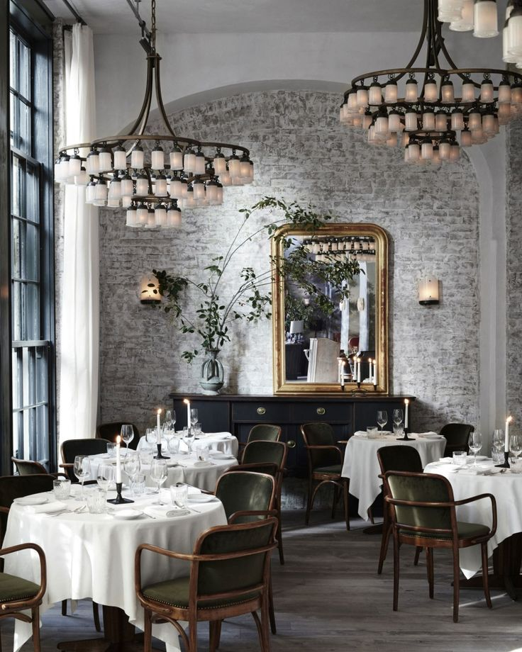 On the to-visit-list when in NY next time. Restaurant Le Coucou designed by Roman & Williams.  Via Ulrika of Seventeen Doors with thanks.