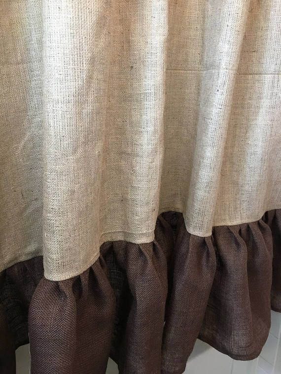 25+ best ideas about Burlap shower curtains on Pinterest ...