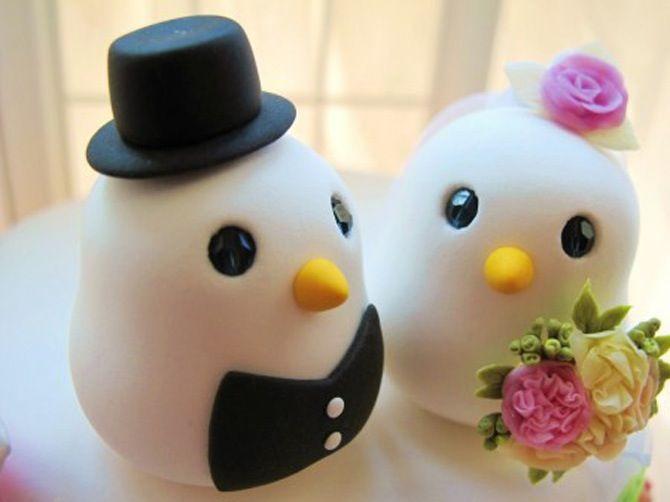 Topos de bolo de passarinhos #casamento #casarcasar