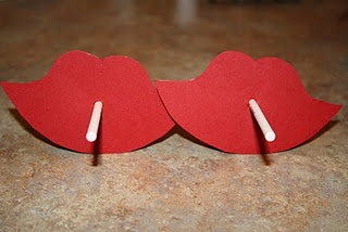 Use lips and mustaches, dum-dums