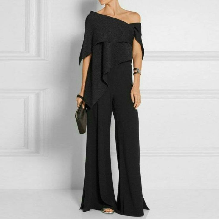 Fashion Off-Shoulder Pure Colour Jumpsuit – Chicgostyle