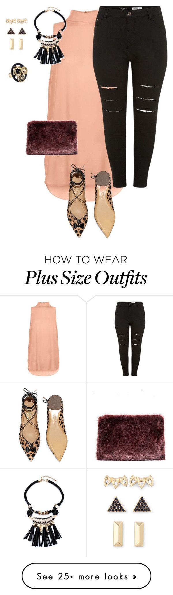 """""""plus size simple and pretty night out"""" by kristie-payne on Polyvore featuring Salvatore Ferragamo, Stella & Dot, women's clothing, women, female, woman, misses and juniors"""