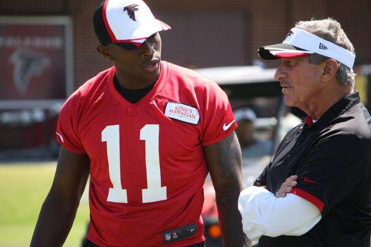 Julio Jones chatting with Atlanta Falcons Owner, Arthur Blank.