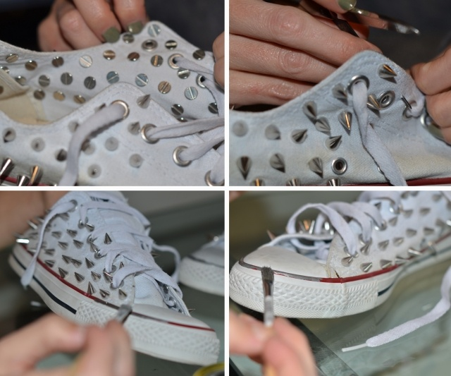 DIY spiked shoes