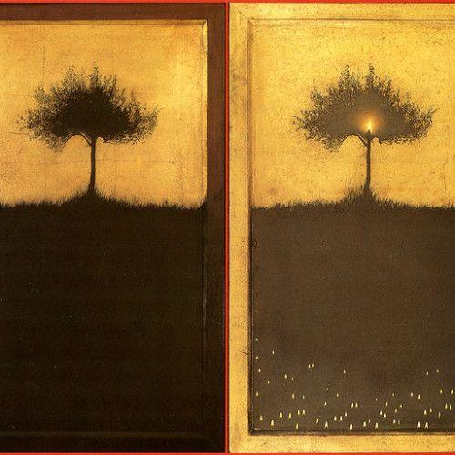 """Olive tree shadow"". Christos Bokoros, 1996"