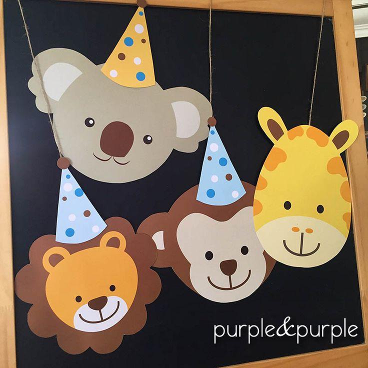sevimli hayvanlar | Safari temalı doğum günü | safari banner | Safari Parti Çubukları | printable templatefor zoo safari party | 1 yaş doğum günü temaları | 2 yaş doğum günü temaları | Zoo/Safari Party Ideas and Inspiration | Safari Party | Safari Birthday | Safari Animals | Jungle Birthday Party