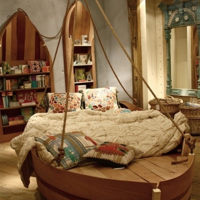 for kids who love boats seashore and everything nautical a totally awesome boat bed may be perfect for their room design
