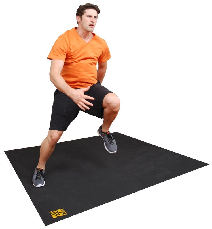 Large Exercise Mat. 6'x6' Durable Rubber Fitness Mat