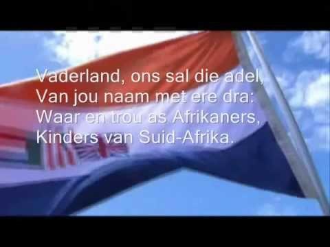 """""""Die Stem"""" (Volle weergawe), """"Transvaalse Volkslied"""", """"Oranje Vrystaatse Volkslied"""" (Ons Boerevolk se Republieke)"""