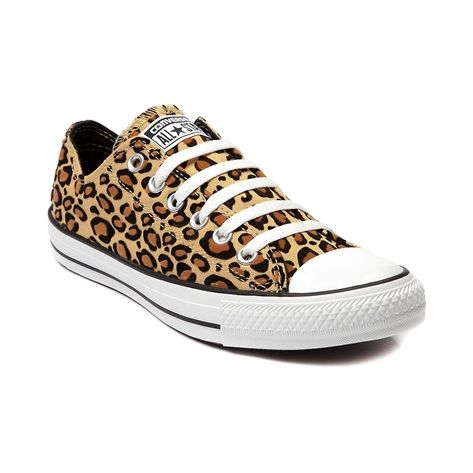 New Converse All Star Lo Leopard Womens Chucks Sneakers Tan Shoe Canvas