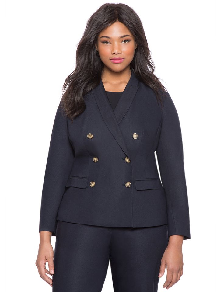 Studio Nautical Blazer | Women's Plus Size Jackets | ELOQUII