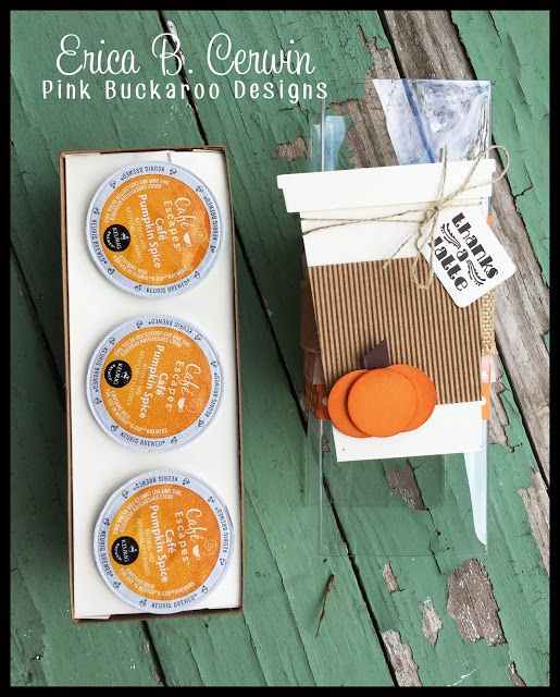 Pink Buckaroo Designs: Pumpkin Spice K-Cup Holder Video Tutorial