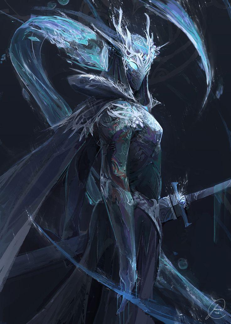 (1) Frost chevalier élémentaire Eau/Glace (corp à corp Rapide , beaucoup d'attaque)  Taille 2m23   Pouvoir grade 2  Arme: deux Epée longue