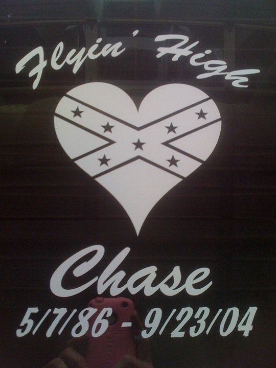 Confederate Flag Heart Rebel Flag Heart Stickers and Decals. This design made a customized memorial decal with our Confederate Flag Heart design.