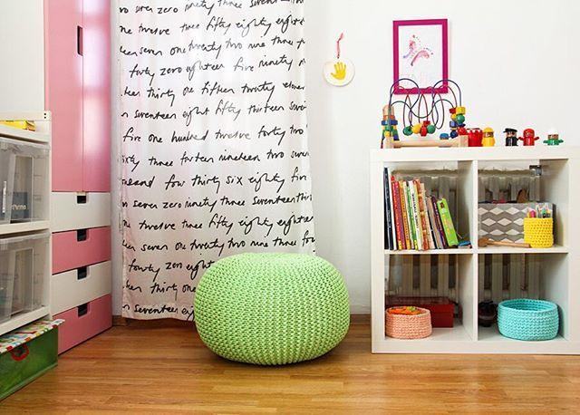 Knit Cotton Pouf | Ottomans & Poufs | Baby & Child Kids room | Scandinavia kids room