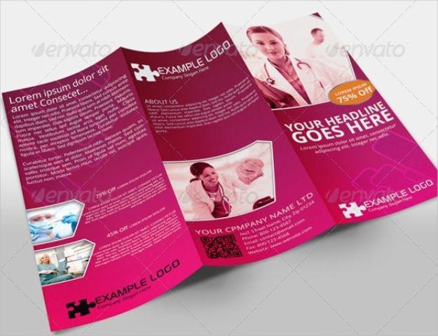 Brosur Medis Kesehatan Klinik Dan Rumah Sakit Template Brosur Desain Pamflet Desain Brosur