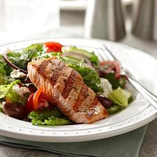 Greek Salad with Grilled Salmon by Curtis Stone