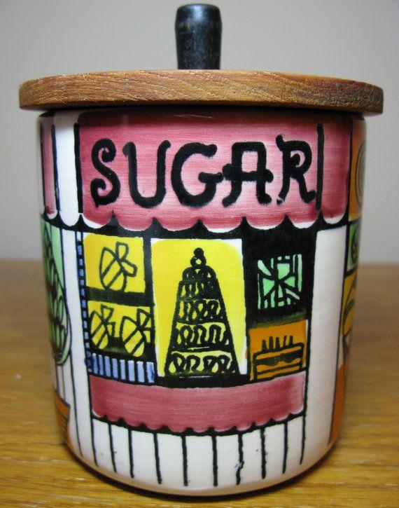 Vintage 60's Swedish ceramic JIE GANTOFTA Sugar Jar