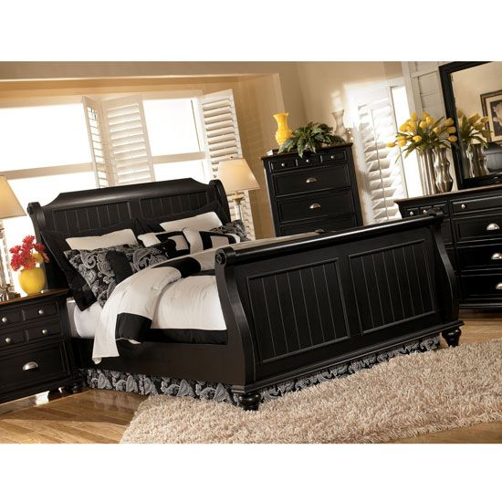 sleigh bed bedroom sets hollow sleigh bed bedroom set by ashley furniture b422