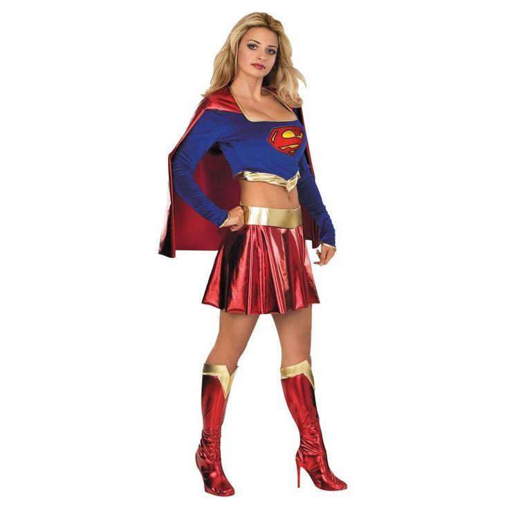 Sexy Supergirl Halloween Costume for Women - Medium