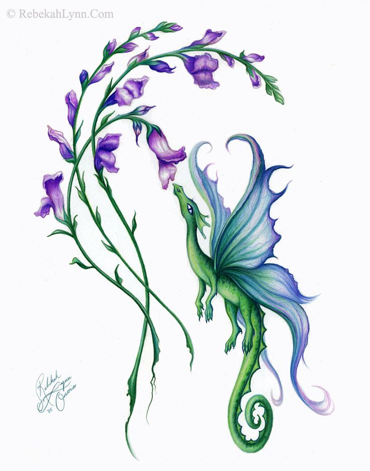 Little SnapDragon - with Larkspur, which is my birth month flower and means beautiful spirit