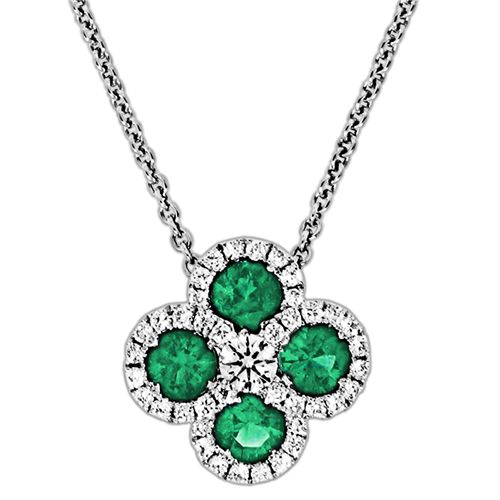 Spark Emerald and Diamond Pendant  Creations Fine Jewelers, Napa, CA 707-252-8131 www.creationsfinejewelers.com