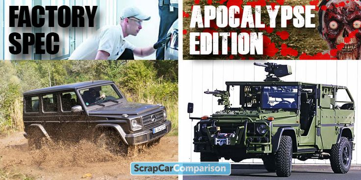 Zombie Survival Vehicle #10: Mercedes-Benz G Wagen (January 2016 used market from £10,500 for a 1984 with 97,500 miles)