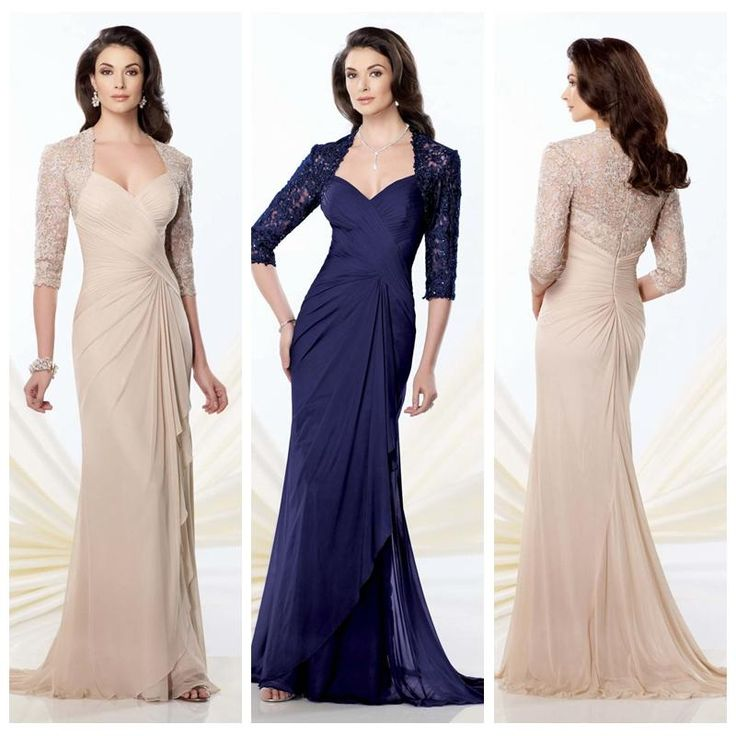 2014 Mother Of The Bride Dresses 1/2 Long Sleeves