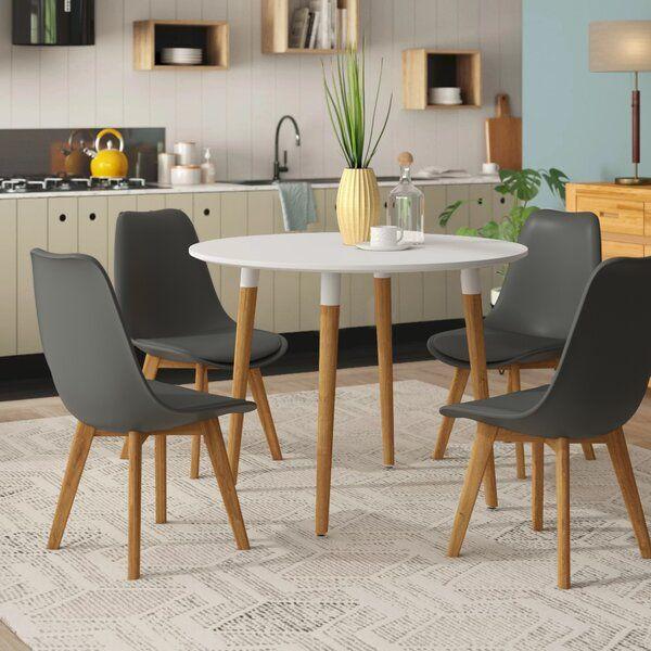 Rinan Dining Set With 4 Chairs Di 2020 Meja Makan Bulat